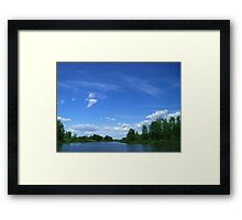 Wild lake before a thunderstorm Framed Print