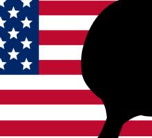 Table Tennis American Flag Sticker