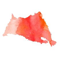 Abstract hamster silhouette large poster by Joanna Szmerdt
