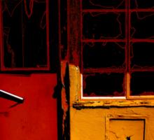 Don't Enter The Red Door Sticker