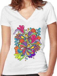 sunshine T-shirt  Women's Fitted V-Neck T-Shirt