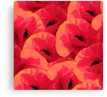 Summer pattern with poppies Canvas Print