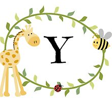 Nursery Letters Y by mezzilicious