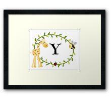 Nursery Letters Y Framed Print