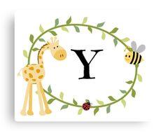 Nursery Letters Y Canvas Print