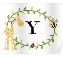 Nursery Letters Y Poster