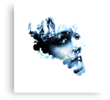 Face in Ink Photoshop Canvas Print