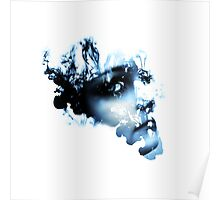 Face in Ink Photoshop Poster