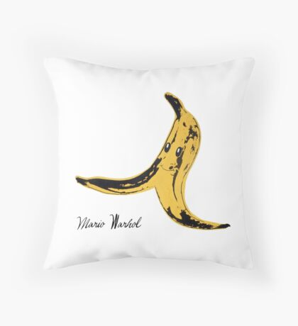 Mario Warhol Throw Pillow