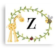 Nursery Letters Z Canvas Print