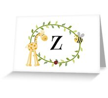 Nursery Letters Z Greeting Card