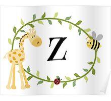 Nursery Letters Z Poster
