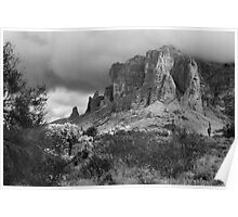 Clouds Over the Superstition Mountains Poster