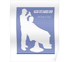 Razor Cuts Barber Shop Logo Poster