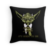 Legen... Dary Jedi Throw Pillow