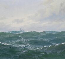 Max Jensen (1860-c. 1908), attributed, Painting, Rough Seascape by Adam Asar