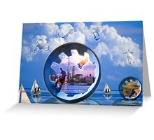 symbolic montage Greeting Card
