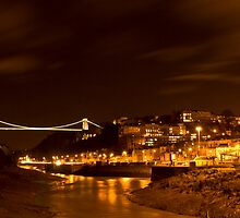 Suspension Bridge by Night by Nick Ball