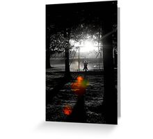Shadow Swinging II Greeting Card