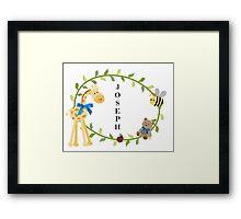 Joseph - Nursery Names  Framed Print