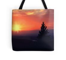 Sun set in Maine Tote Bag