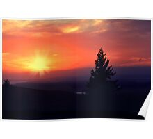 Sun set in Maine Poster
