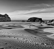 Footsteps in the Sand by Linda Cutche