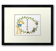 Matthew - Nursery Names Framed Print