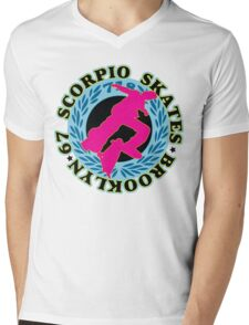 67 SCORPIO SKATEBOARDS Mens V-Neck T-Shirt