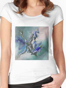 """Freshair"" original abstract artwork Women's Fitted Scoop T-Shirt"