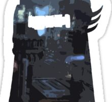 Batman Silhouette: Gotham Skyline Sticker