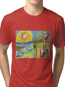 WATCHING THE SUN SET(C1995) Tri-blend T-Shirt