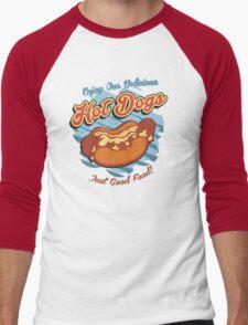 Delicious HotDogs Men's Baseball ¾ T-Shirt
