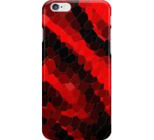 Red and Black Abstract Mosaic iPhone Case/Skin