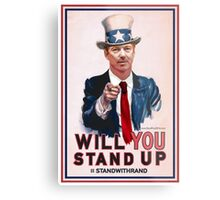"""""""Will You Stand Up"""" Antique Version, Stand With Rand Paul 2016 Metal Print"""