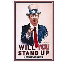 """""""Will You Stand Up"""" Antique Version, Stand With Rand Paul 2016 Photographic Print"""