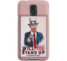 """""""Will You Stand Up"""" Antique Version, Stand With Rand Paul 2016 Samsung Galaxy Case/Skin"""