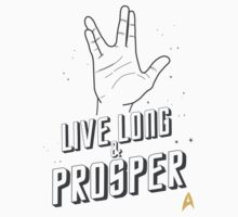 Live Long and Prosper - Leonard Nimoy - Star Trek - White Shirt Kids Clothes