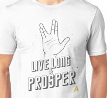 Live Long and Prosper - Leonard Nimoy - Star Trek - White Shirt Unisex T-Shirt