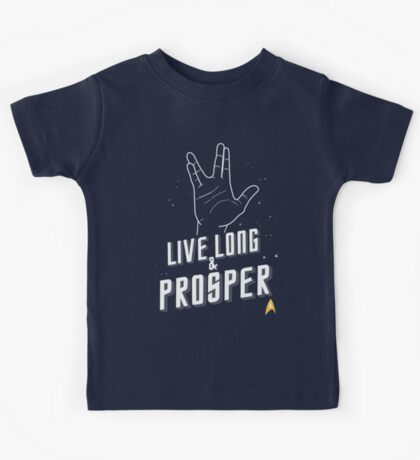 Live Long and Prosper - Leonard Nimoy - Star Trek - in Colours Kids Tee