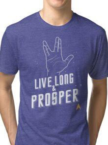 Live Long and Prosper - Leonard Nimoy - Star Trek - in Colours Tri-blend T-Shirt