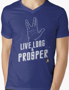 Live Long and Prosper - Leonard Nimoy - Star Trek - in Colours Mens V-Neck T-Shirt