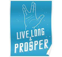 Live Long and Prosper - Leonard Nimoy - Star Trek - in Colours Poster