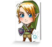 Link Chibi Greeting Card
