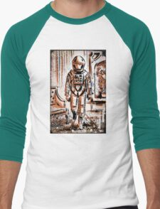 2001 A Space Odyssey Art Stanley Kubrick film movie director sci fi science fiction drawing illustration joe badon stars Christmas Men's Baseball ¾ T-Shirt