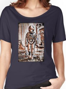 2001 A Space Odyssey Art Stanley Kubrick film movie director sci fi science fiction drawing illustration joe badon stars Christmas Women's Relaxed Fit T-Shirt