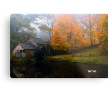 grist mill with ducks Metal Print