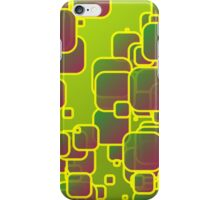 Olive green squares iPhone Case/Skin
