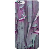 Pink and Green Peeling Paint iPhone Case/Skin