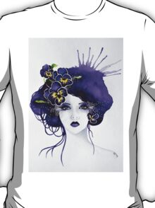 Purple Pansy Faerie T-Shirt